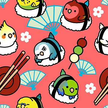 Sushi Time with Cody the Lovebird & Friends by birdhism