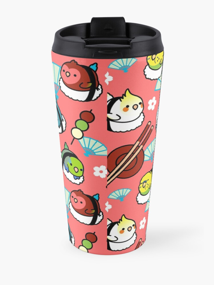 Alternate view of Sushi Time with Cody the Lovebird & Friends Travel Mug