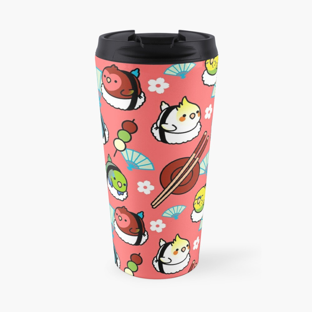 Sushi Time with Cody the Lovebird & Friends Travel Mug