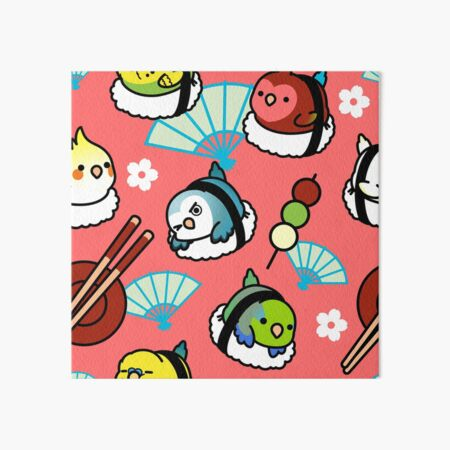 Sushi Time with Cody the Lovebird & Friends Art Board Print