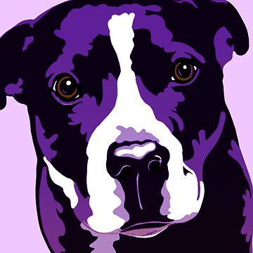 Dante The Staffy Purple  by Sookiesooker