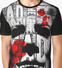 Halloween Mask Typography Graphic T-Shirt