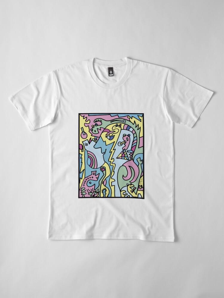 "Alternate view of Caripela"" of a woman 1 Premium T-Shirt"
