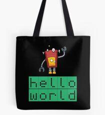 Retro Coding Kids Robot Science Award Tote Bag