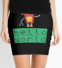 Retro Coding Kids Robot Science Award Mini Skirt