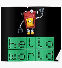Retro Coding Kids Robot Science Award Poster
