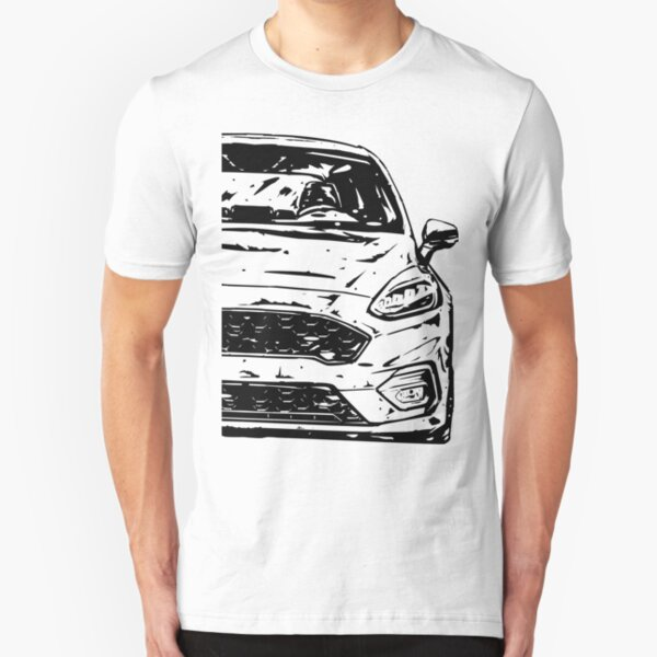 Ford ST Car Silhouette Fiesta focus Christmas gift present birthday Fathers Day