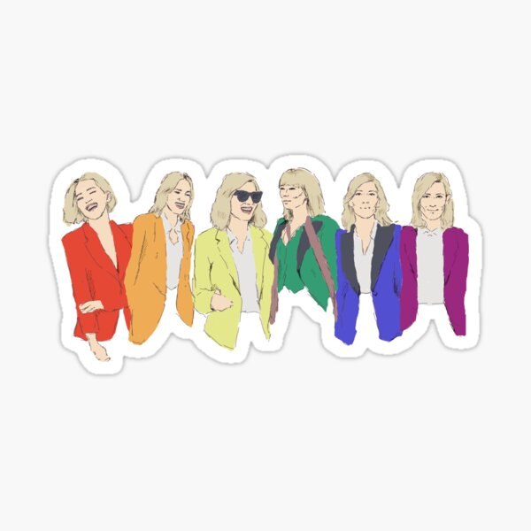 Cate Blanchett - Regenbogen-Stolz-Flagge Sticker