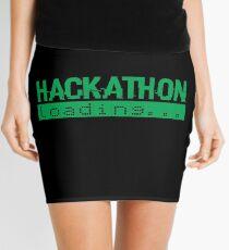 Hackathon Loading Green Retro Coder Type Mini Skirt