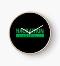 Hackathon Loading Green Retro Coder Type Clock