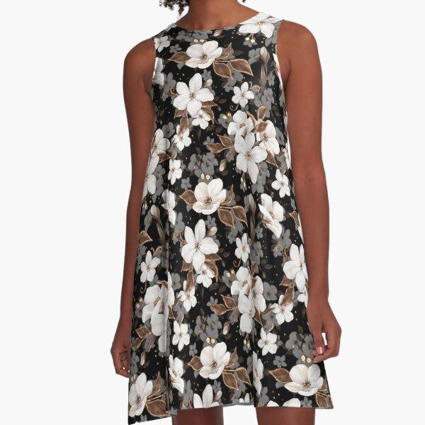 Apfelblumen A-Linien Kleid