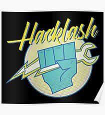 Hackathon 80s Retro Hacklash Team Coders Poster