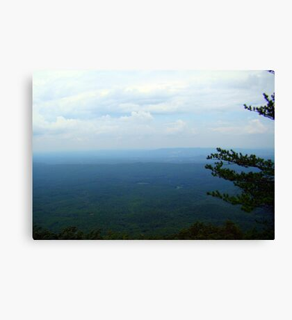 Dark and Cloudy  Mountain View Canvas Print