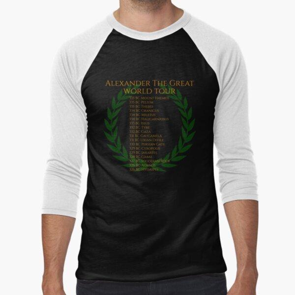 Alexander The Great World Tour Baseball ¾ Sleeve T-Shirt