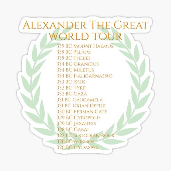Alexander The Great World Tour Sticker