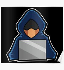 Retro Hack Coder Hacking Hoodie Hacker Poster