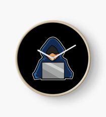 Retro Hack Coder Hacking Hoodie Hacker Clock