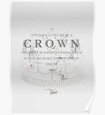Billie Eilish you should see me in a crown Lyrics Print Poster