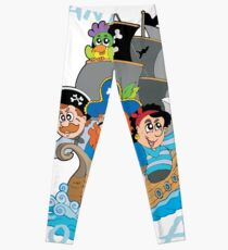 Grow Up To Be A Pirate Legend Halloween Pirate Day Leggings