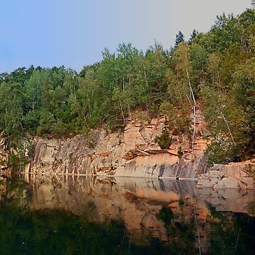 Granite rocks at the natural lake   waterscape photography by patrickjobst