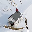 Skiers Chapel - Swiss Alps by Kate Miner