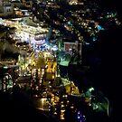 Santorini by night by Monica Di Carlo