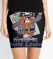 Grow Up To Be A Pirate Legend Halloween Pirate Day Mini Skirt