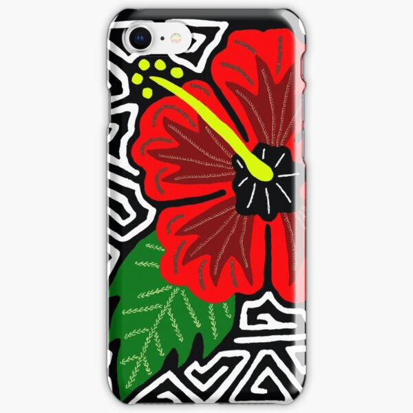 Mola Hibiscus w/swirl iPhone Snap Case