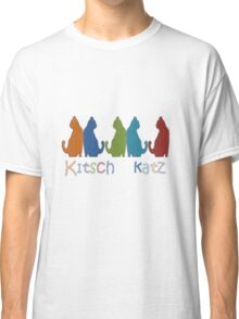 Kitsch Cats Silhouette Cat Collage Pattern Isolated Classic T-Shirt
