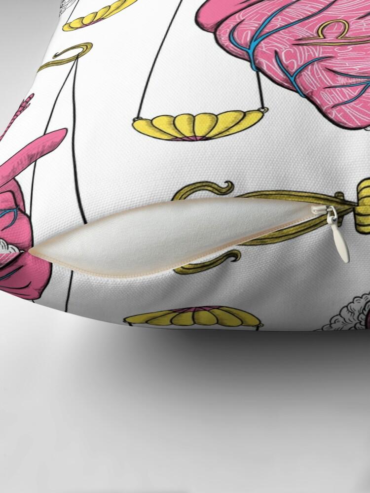 Alternate view of Libra Heart Throw Pillow