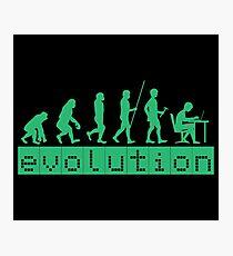 Evolution of Coding Developer Retro Hacker Photographic Print