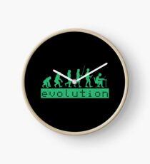 Evolution of Coding Developer Retro Hacker Clock