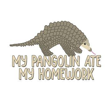 My Pangolin Ate My Homework by awkwarddesignco