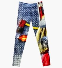 Fire Truck With Hoses and Ax Leggings