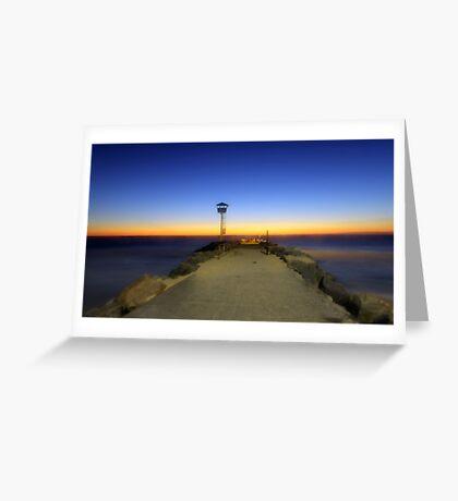 Dreamy Dusk At North Beach  Greeting Card
