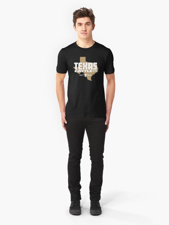 Alternate view of Texas Cattle Co. Faux Logo Slim Fit T-Shirt