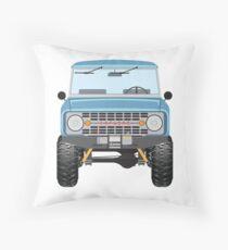 Ford Bronco (blue) Throw Pillow