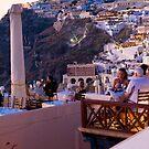 Santorini seaview terraces by Monica Di Carlo