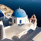 Oia Church, Santorini Island (Greece) vertical by Monica Di Carlo