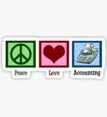 Peace Love Accounting Sticker