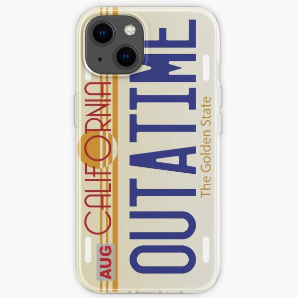 Back to the Future License Plate iPhone Soft Case