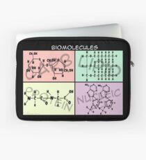 Biomolecule Structure Poster Laptop Sleeve