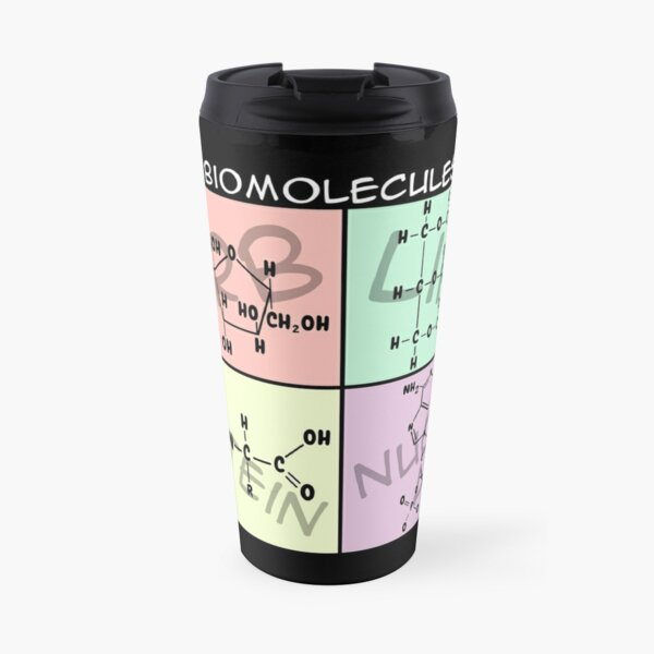 Biomolecule Structure Poster Travel Mug