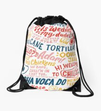 Vine app art  Drawstring Bag