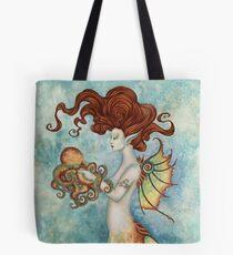Mermaid and Octopus Tote Bag
