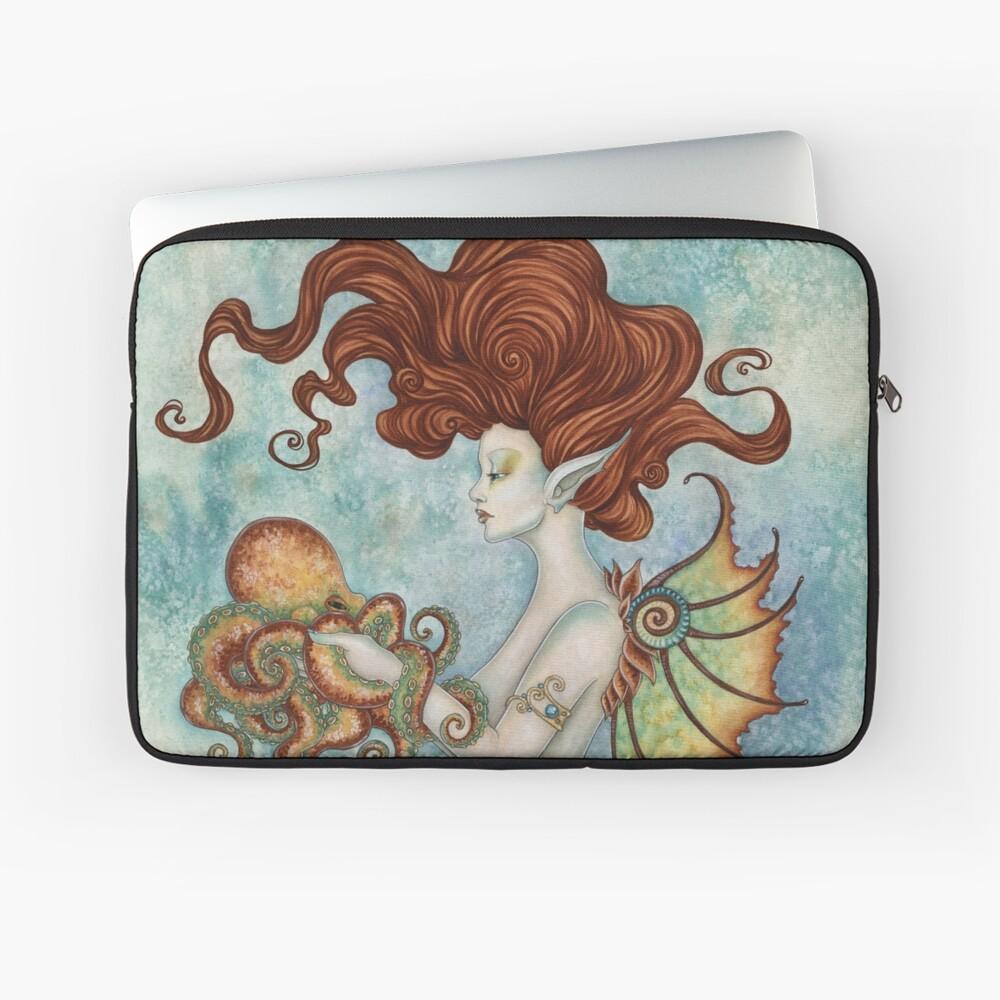 Mermaid and Octopus Laptop Sleeve