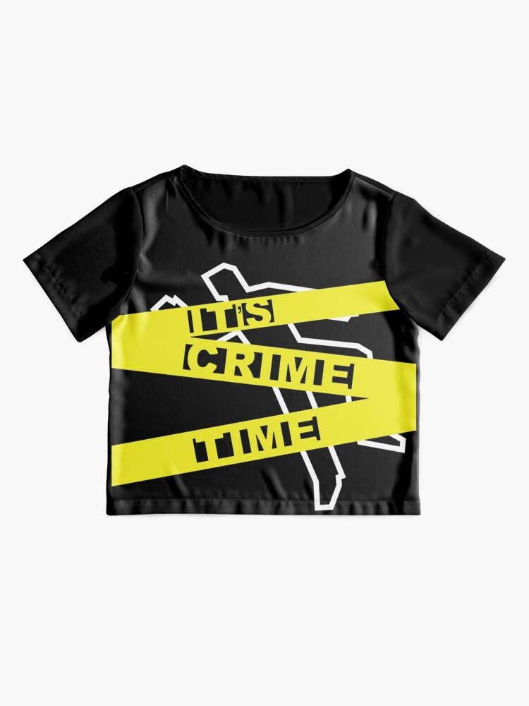 Alternate view of Crime Time Chiffon Top