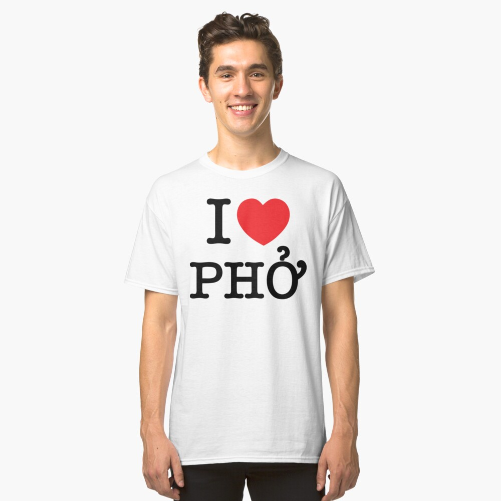 I Heart (Love) Phở Classic T-Shirt Front