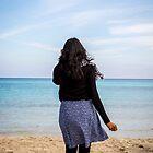 Girl at beach by Sunil Bhardwaj