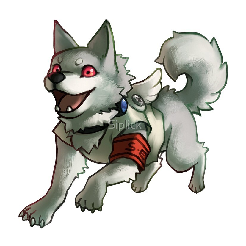 Koromaru By Siplick Redbubble When he joined sees, he was given a special evoker for dogs, a metallic collar around his neck. redbubble